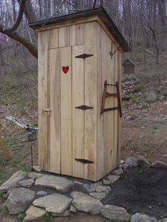 There are still many old homes in the mountains that still do things the old fashioned way. This privy sports a red heart on it's door