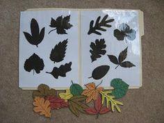 Fumbling Through Parenthood: File Folder Games - Leaf Matching