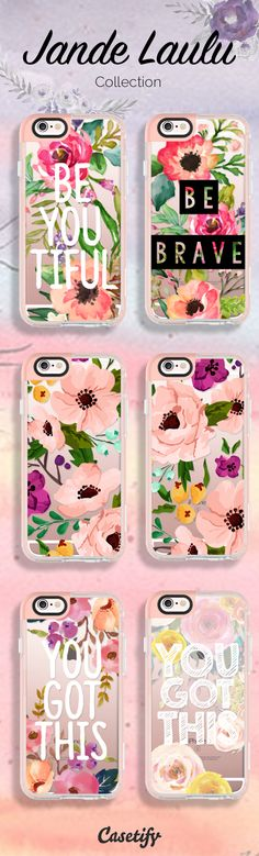 Perfect combination of floral and quotes available by artist Jande Laulu here: https://www.casetify.com/jande9/collection
