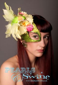 Garden of Eden – Exotic #Hummingbird and Orchid Mask Fascinator