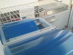 domo azul arco cañon corredizo