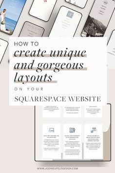 Web Design Basics, Business Website Templates, Blog Design Inspiration, Website Design Layout, Web Design Services, Instagram, Toolbox, Pinterest Marketing, Create
