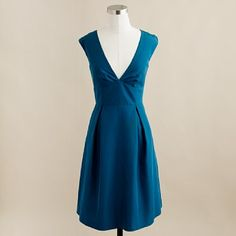 JCrew - Peacock Blue dress ... I wonder how hard it would be to make a dress like this, seems pretty simple? @heather till bowser