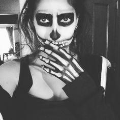 Draft of the skeleton makeup