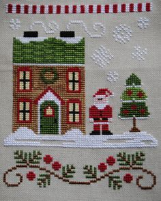 Here is my January WIPocalypse update. Since I'm trying to work through some UFO's and WIP's this year, I thought I did pretty well. Santa Cross Stitch, Cross Stitch House, Cross Stitch Tree, Cross Stitch Alphabet, Cross Stitching, Cross Stitch Embroidery, Embroidery Patterns, Cross Stitch Patterns, Cross Stitch Christmas Ornaments