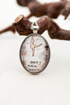 Dance Pendant Gift for Dancer Dance Teacher Gift by LadyArtTalk