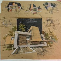 Interesting Find A Career In Architecture Ideas. Admirable Find A Career In Architecture Ideas. Sketchbook Architecture, Art Et Architecture, Architecture Graphics, Architecture Student, Sketches Arquitectura, Portfolio D'architecture, Presentation, Hand Drawings, Check