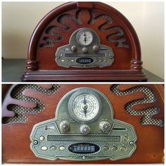 Современный рабочий радиоприёмник. Стилизован под ретро :-) #ретро #радио #радиоприёмник #GalichDetected