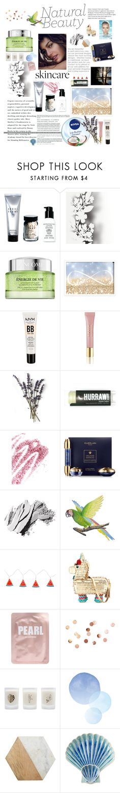 """Nature Beauty"" by kiwita ❤ liked on Polyvore featuring beauty, Bobbi Brown Cosmetics, Élitis, Nivea, Lancôme, SkinCare, Oliver Gal Artist Co., NYX, AERIN and Reebok"