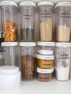 Kitchen Organization containers that keep things neat! & Top 10 Tips for Pantry Organization and Storage | My OCD | Pinterest ...