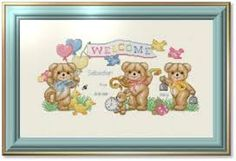 Resultado de imagen de baby cross stitch patterns free
