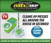 Clean Up Those Messes and Order Big Boss Insta Mop