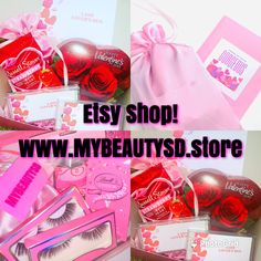 Strawberry Hearts, Valentine Box, Beauty Box, Happy Day, Holiday Gifts, Gifts For Women, Lashes, Perfume Bottles, Boxes