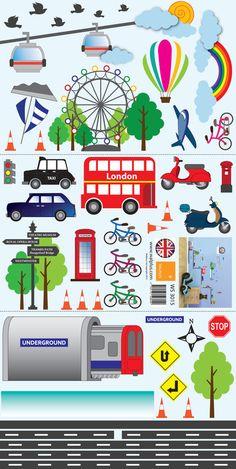 Transport of London Kid's Boys Girls Babies Nursery Room Children Wall Stickers | eBay