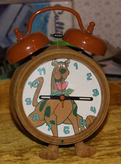Vintage Scooby Doo Alarm Clock - FREE Shipping