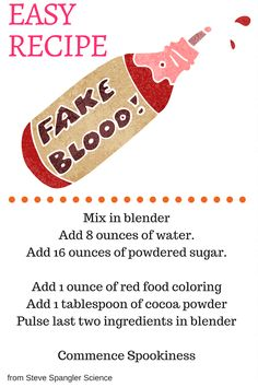 Halloween is here and it's time to whip up some scary messes. #MyMysteryMess is fake blood that's perfect for homemade zombie costumes.