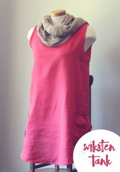 Linen Wiksten Tank with Side Pockets - such an easy pattern to follow with beautiful results!