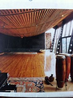 Yoga room ceiling.