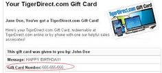 tiger direct gift card