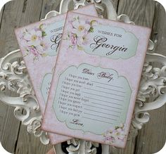 NEW  Personalized Shabby Chic Baby Shower by LittlePaperFarmhouse, $19.50