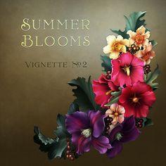 "Jaguarwoman's ""Summer Blooms Vignette #2"""