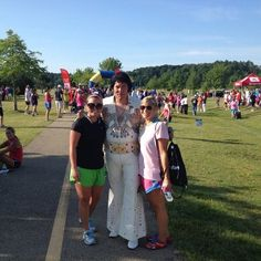 Our WTVA runners Keegan and Allie with Elvis after running The King 5K