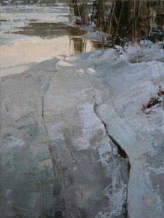 'Fading Light' oil painting by Tibor Nagy. Abstract meets realism— such a cool original style.