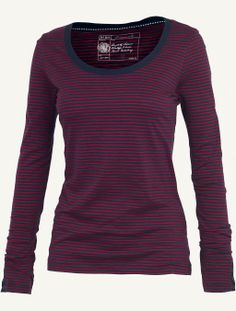Womens Biarritz Stripe T-Shirt (Pearl Blue, Light Moss, Pansy Purple and Sweet Pea; don't know what the pictured colour is.)