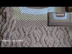 Canesu en crochet para blusa crema,parte 1 ( crea tu propio diseño) - YouTube