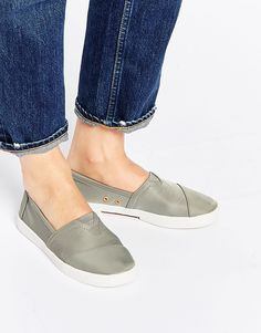 TOMS+Grey+Nylon+Agate+Slip+On+Trainers