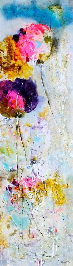 """""""Untitled"""" 72"""" x 20"""" Mixed Media on Canvas byEmilija Pasagic, available at Crescent Hill Gallery in Mississauga, ON"""
