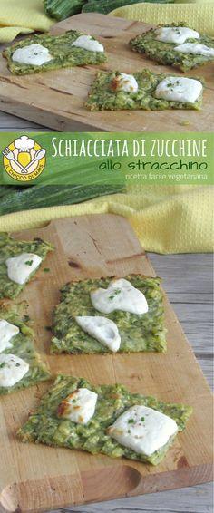 Schiacciata di zucchine allo stracchino, ricetta semplice e #vegetariana da servire come #antipasto o #secondo, oppure per l'#aperitivo. #senzaglutine #glultenfree #italianfood #foodporn