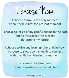 A #Mindful #Affirmation to Be Here Now
