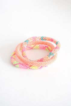 Peach Lily and Laura bracelets are the perfect addition to any spring outfit! LOVE THE SOLID COLOR ONE