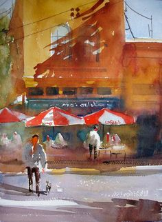 watercolor painting by vinita pappas. She has all 3 videos, one right after the other on her site!