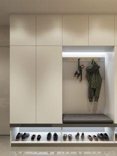 Latest Cupboard Designs, Bedroom Cupboard Designs, Entryway Closet, Hallway Storage, Ikea Hallway, Closet Shelving, Entryway Bench, Storage Room, Hallway Tables