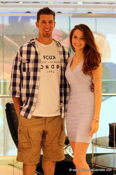 JP Arencibia and Marta Tryshak at French Connection, Canada