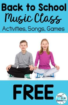 Free back to school music class games and activities.