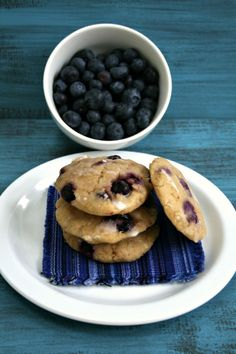 GF Lemon Blueberry Cookies