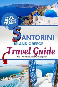 For many years, Santorini has been on the list of the top 50 places around the world that are worth visiting at least once in a lifetime and it's really worth to visit! If you want to spend the best vacations in Santorini, check below the ultimate travel guide. Santorini travel guide   Santorini island Greece   Santorini things to do Santorini Island Greece, Santorini Travel, Greece Travel, Top Travel Destinations, Europe Travel Guide, Packing Tips For Travel, Greece Photography, Greece Holiday, International Travel Tips