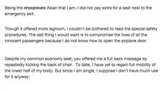 """Woman Sits On Plane Near Man Who Smells Like """"The Anus Of Satan,"""" Writes This Perfect Open Letter"""