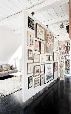un wallart per separare - dividere con i quadri