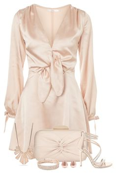 """""""Simply Satin"""" by stileclassico ❤ liked on Polyvore featuring Oh My Love, Steve Madden, New Directions, Anne Klein and Monica Vinader"""