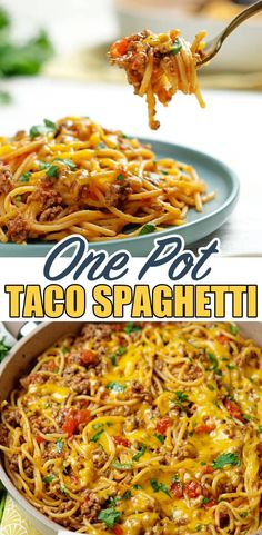 EASY TACO SPAGHETTI Beef Recipes For Dinner, Ground Beef Recipes, Mexican Food Recipes, Cooking Recipes, Supper Recipes, Thai Recipes, Taco Spaghetti, Spaghetti Recipes, Spaghetti Ground Beef