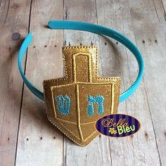 Hanukkah Dreidel Headband Slider - 4x4 | What's New | Machine Embroidery Designs | SWAKembroidery.com Bella Bleu Embroidery