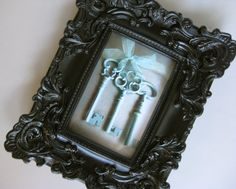 Ornate Black Frame Old Key Photo Skeleton Keys Shabby by Swede13, $32.00