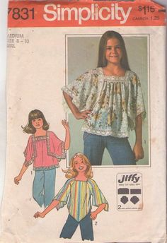 Vintage 70's Hippie Square Handkerchief or Bell Sleeve Blouse, Boho Top Set