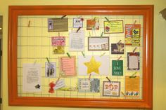 Memo Board for home or Young Women Activity.  I'm wondering how I can pull this off with no budget!