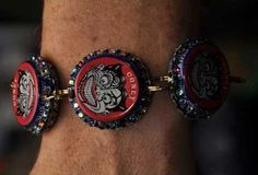 #craftbeer bottle cap bracelet pinned with Pinvolve - pinvolve.co
