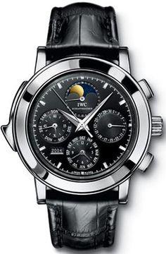 IWC Grande Complication Black DIal Chronograph Black Leather